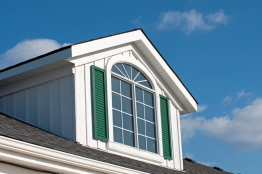 Dormer with Green Shutters